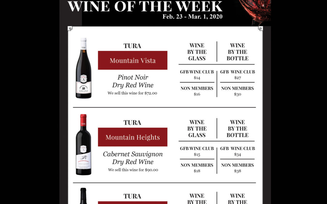 Wine of the Week – Tura Winery